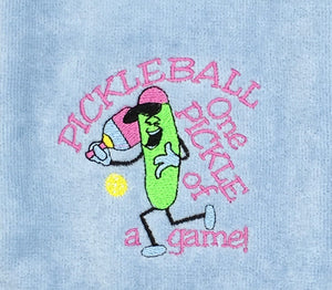Pickleball One Pickle of a Game Pickleball Towel