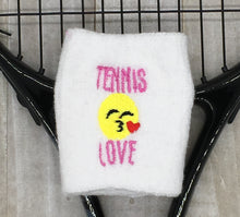 Load image into Gallery viewer, Tennis Love Wrist Sweatband
