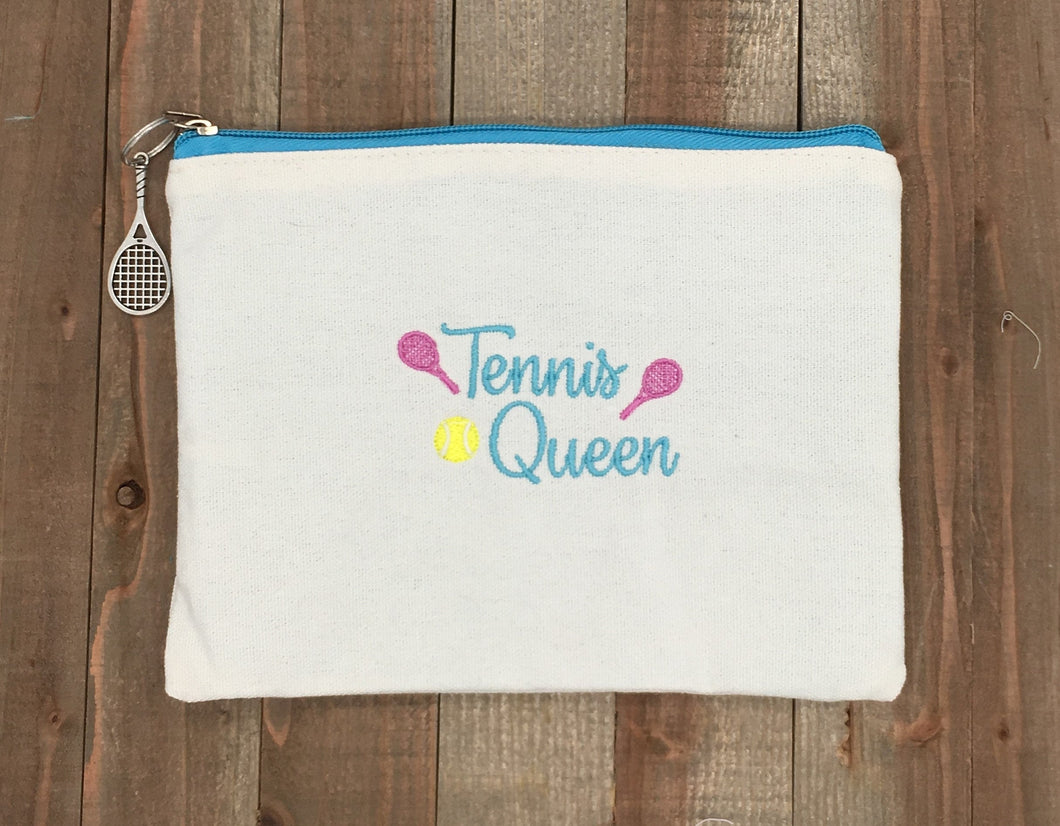 Tennis Queen Cosmetic Bag