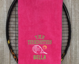 Custom Tennis TEAM Towel (minimum of 10)