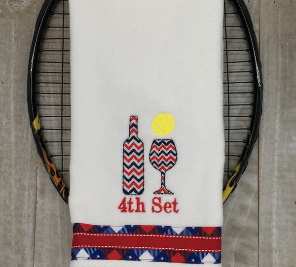 4th Set Chevron Tennis Towel