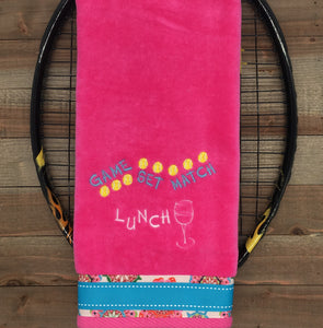Game Set Match Lunch Tennis Towel