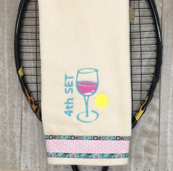 4th Set Wine Tennis Towel
