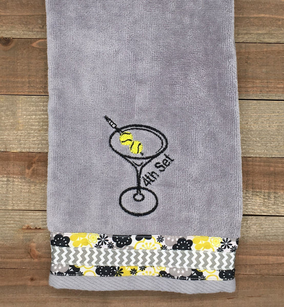 "Embroidered ""4th Set Martini"" Tennis Towel"