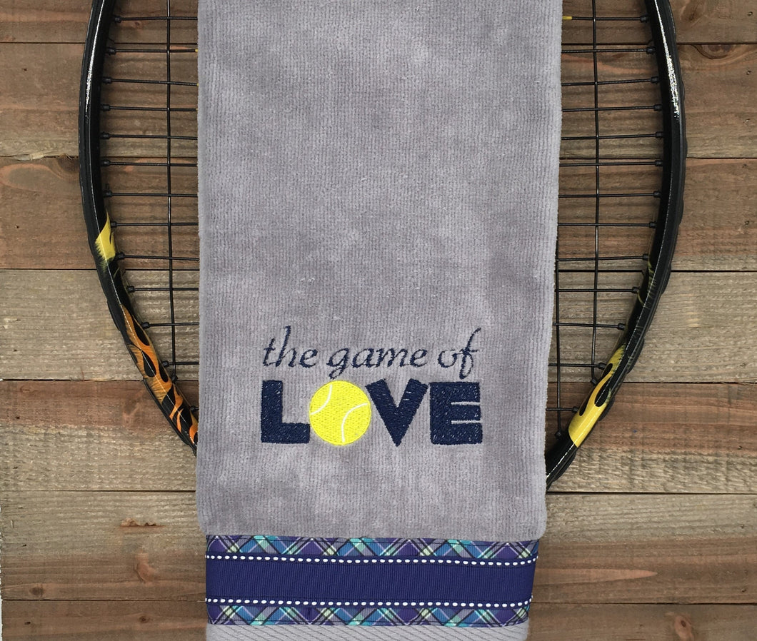The Game of Love Tennis Tennis Towel