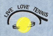 Load image into Gallery viewer, NEW Design** Live Love..Tennis Tennis Towel