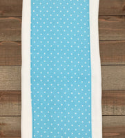 Burp Cloths Coordinating Aqua Burp Cloths with Flannel