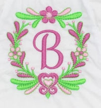 Load image into Gallery viewer, Monogrammed Fancy Flowered Baby Bloomer