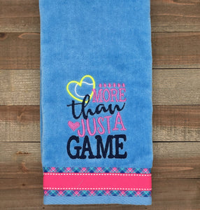 NEW** More Than Just a Game Tennis Sports Towel
