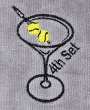 "Load image into Gallery viewer, Embroidered ""4th Set Martini"" Tennis Towel"