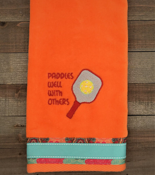 Paddles Well With Others Pickleball Towel