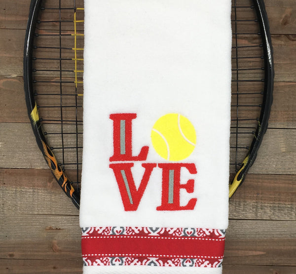 NEW Design** LOVE Tennis Tennis Towel