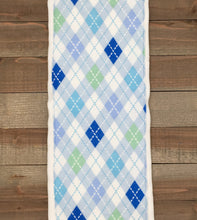 Load image into Gallery viewer, Burp Cloths Three Blue Coordinating with Flannel