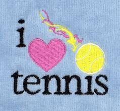 I love Tennis Tennis Towel