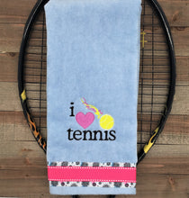 Load image into Gallery viewer, I love Tennis Tennis Towel