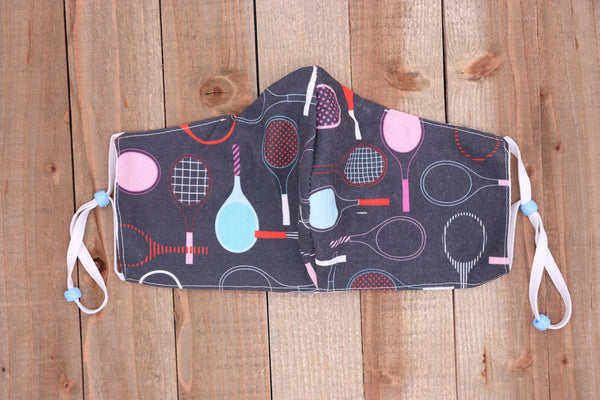 Tennis Fabric Handmade Face Mask Denim like Blue