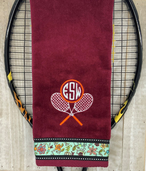 Crossed Racquets with Monogram Tennis Towel