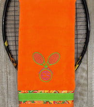 Load image into Gallery viewer, Two Letter Monogram Tennis Towel
