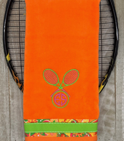 Two Letter Monogram Tennis Towel