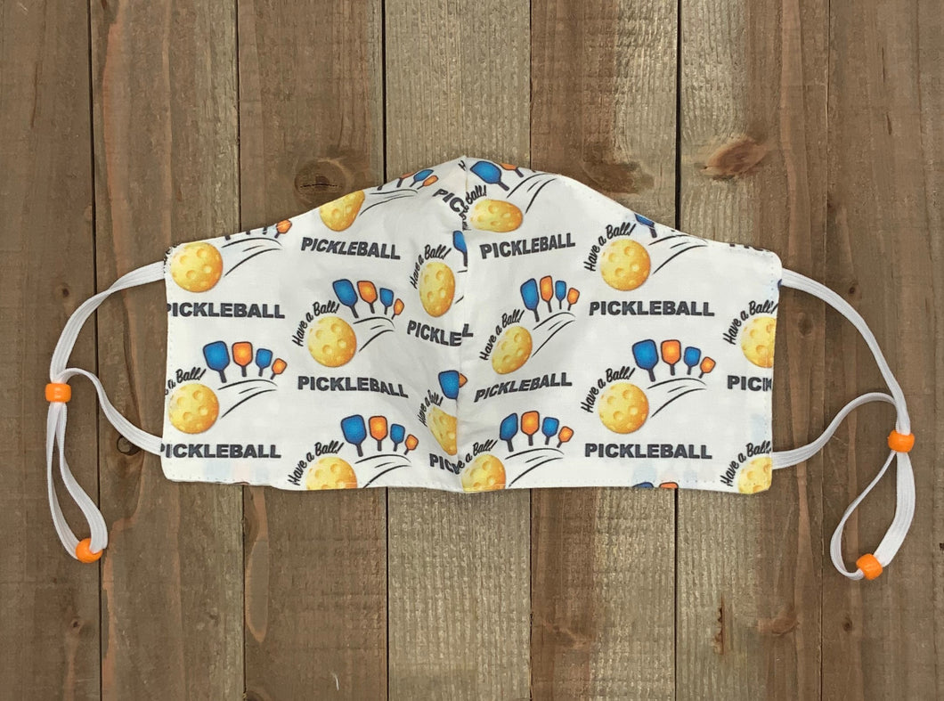 Pickleball Fabric Handmade Face Mask Multiple Paddles