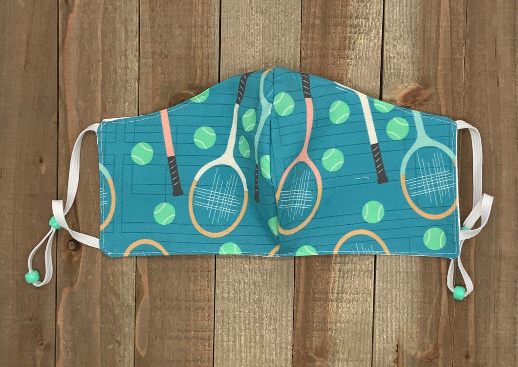 Tennis Fabric Handmade Face Mask Multicolor