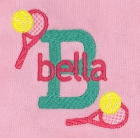 Initial and Name with Racquets Tennis Towel