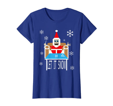Womens Cocaine Santa let it snow christmas sweater comic T-Shirt-735429