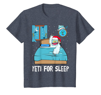Yeti For Sleep Bed Abominable Snowman Christmas Pajama T-Shirt