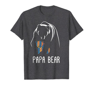 Autism Papa Bear - Autism Awareness Shirt
