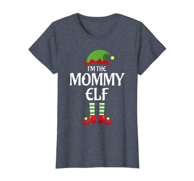 Womens I'm The Mommy Elf Family Matching Group Christmas Gift Mom T-Shirt