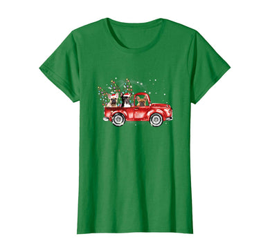 Womens Frenchie Red Truck Family Matching Christmas Pajamas Gift T-Shirt