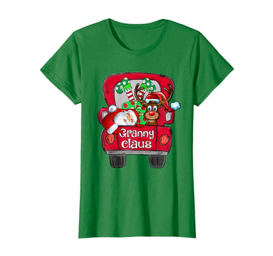 Womens Granny Claus Truck Christmas Family Gifts T-Shirt