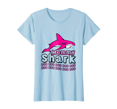 Womens mommy shark t shirt mother grandma Christmas gifts shirts.