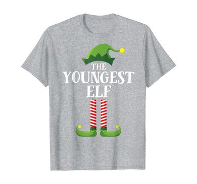 Youngest Elf Matching Family Group Christmas Party Pajama T-Shirt