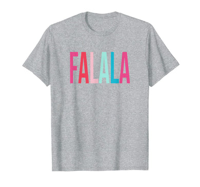 Womens Girls Falala Colorful Christmas T-Shirt-3113923