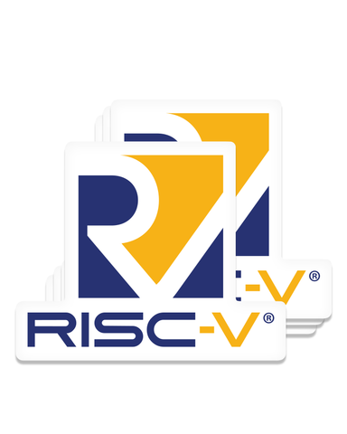 Bulk Pack - RISC-V Stacked Decal