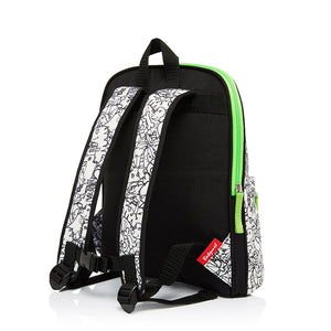 Kid's Backpack Age 3+ Dino Black & White