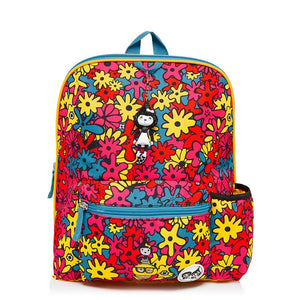 Zip and Zoe by Babymel Kid's backpack age 3+ floral brights, front view | school bags for girls | backpacks for girls | kids school bags | kids backpacks