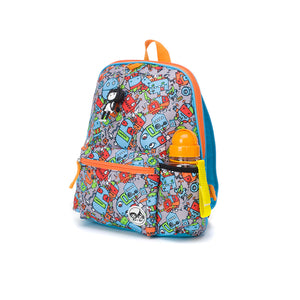 Kid's Backpack Age 3+ Robots Blue