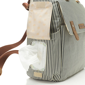 Robyn Convertible Backpack Navy Stripe
