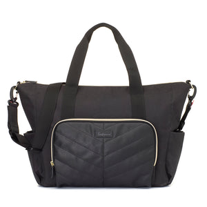 Babymel nappy bag tote / vegan leather blend / spacious and stylish
