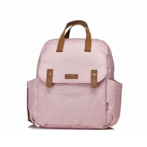 Babymel convertible changing baby bag , Robyn Dusty Pink Origami Heart, front view, backpack nappy bag, rucksack bag baby bag
