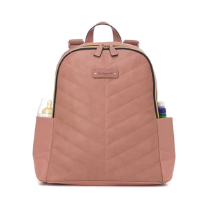 Gabby Vegan Leather Backpack Dusty Pink
