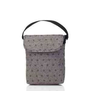 Babymel baby food and bottle bag insulated front view grey