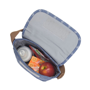 Babymel baby food and bottle bag insulated internal view blue