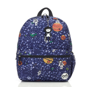 Zip and Zoe by Babymel Junior backpack spaceman, front view | school bags for boys | boys backpack | school bags for girls | backpacks for girls | kids school bags | kids backpacks