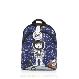 Zip and Zoe by Babymel mini backpack & safety harness-reins spaceman, front view | toddler backpack with reins | toddler rucksack | boys backpack | backpacks for girls | kids school bags | kids backpacks