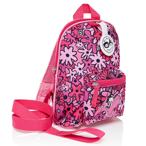 Mini Backpack Floral Pink