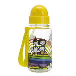 Zip and Zoe by Babymel drinking bottle with straw rainbow | water bottle | kids water bottle | BPA free bottle