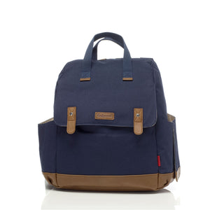 Babymel convertible changing bag , Robyn navy, front view, unisex backpack nappy bag, rucksack bag, baby bag,